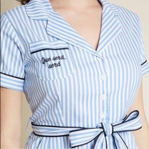 ModCloth Que Sera Sera Shirt Dress 50s Rockabilly